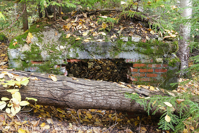 """Remnants of  """"Lucy Mill"""" along Nancy Pond Trail in the White Mountains, New Hampshire."""