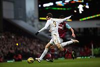 Barclays Premier League, West Ham V Swansea, 02/02/2013<br /> Pictured: (R-L) Winston Reid, Miguel Michu.<br /> Picture by: Ben Wyeth / Athena