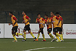 Kingfisher East Bengal vs Balestier Khalsa during the 2015 AFC Cup 2015 Group F match on April 24, 2015 at the Vivekananda Yuba Bharati Krirangan Stadium in Kolkata, India. Photo by Ruby Sarkaar / World Sport Group