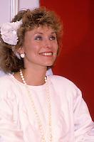 Marguerite Blais<br /> au Salon de la Femme, le 25 avril 1985.<br /> <br /> PHOTO : Pierre Roussel - Agence Quebec Presse