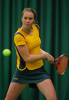 10-3-06, Netherlands, tennis, Rotterdam, National indoor junior tennis championchips, Lianne de Jong