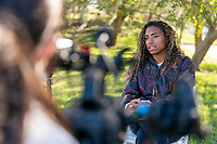 ORLANDO, FL - JANUARY 16: Catarina Macario #29 of the USWNT speaks during an interview at the team hotel on January 16, 2021 in Orlando, Florida.