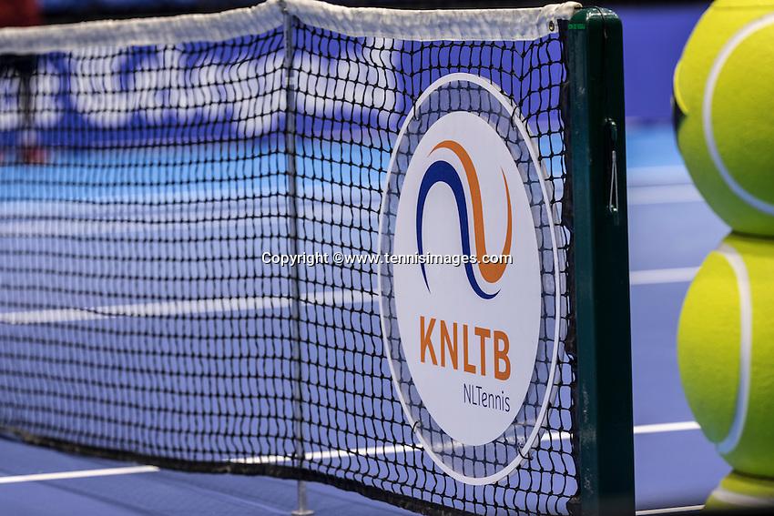 Rotterdam, Netherlands, December 13, 2016, Topsportcentrum, Lotto NK Tennis,   KNLTB logo<br /> Photo: Tennisimages/Henk Koster