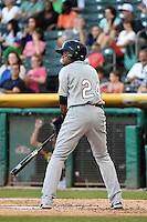 Argenis Diaz (24) of the Reno Aces at bat against the Salt Lake Bees in Pacific Coast League action at Smith's Ballpark on July 23, 2014 in Salt Lake City, Utah.  (Stephen Smith/Four Seam Images)