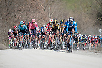 peloton over the gravel<br /> <br /> 15th Strade Bianche 2021<br /> ME (1.UWT)<br /> 1 day race from Siena to Siena (ITA/184km)<br /> <br /> ©kramon