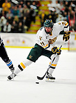 30 January 2010: University of Vermont Catamount forward Jack Downing, a Junior from New Canaan, CT, in action against the University of Maine Black Bears at Gutterson Fieldhouse in Burlington, Vermont. The Maine Black Bears and the Catamounts played to a 4-4 tie in the second game of their America East weekend series. Mandatory Credit: Ed Wolfstein Photo