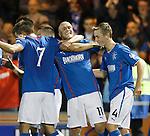 Nicky Law celebrates his goal