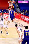 Liga ACB-ENDESA 2020/2021. Game: 26.<br /> FC Barcelona vs Casademont Zaragoza: 107-88.<br /> Nicolas Brussino vs Leandro Bolmaro.