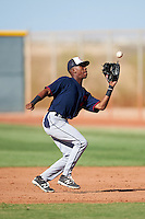 Cleveland Indians Samad Taylor (9) during an Instructional League game against the Kansas City Royals on October 11, 2016 at the Cleveland Indians Player Development Complex in Goodyear, Arizona.  (Mike Janes/Four Seam Images)