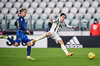 3rd January 2021, Allianz Stadium, Turin Piedmont, Italy; Serie A Football, Juventus versus Udinese; gol Federico Chiesa shoots and scores for 2-0 in the 49th minute