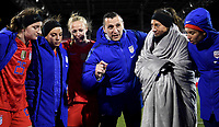 COLUMBUS, OH - NOVEMBER 07: Vlatko Andonovski USWNT head coach talk with his USWNT players during a game between Sweden and USWNT at MAPFRE Stadium on November 07, 2019 in Columbus, Ohio.