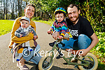 Enjoying a stroll in the Killarney National park on Saturday, l to r: Alison Feeney, Cathal, Oliver and Matthew Thompson