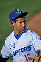 Raul Shah (16) of the Ogden Raptors before the game against the Grand Junction Rockies at Lindquist Field on June 5, 2021 in Ogden, Utah. The Raptors defeated the Rockies 18-1. (Stephen Smith/Four Seam Images)