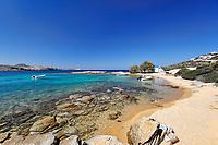 Saint George beach of Antiparos island in Cyclades, Greece