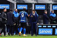 Romelu Lukaku of FC Internazionale and Antonio Conte coach of FC Internazionale during the Serie A football match between FC Internazionale and FC Crotone at stadio San Siro in Milano (Italy), January 3rd, 2021. Photo Daniele Buffa / Image Sport / Insidefoto