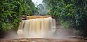 Maliau Falls on the course of the Maliau River at the center of the Maliau Basin, Sabah's 'Lost World', Sabah, Borneo, Malaysia.