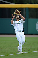 South Florida Bulls outfielder Daniel Portales (29) catches a fly ball during a game against the Florida State Seminoles on March 5, 2014 at Red McEwen Field in Tampa, Florida.  Florida State defeated South Florida 4-1.  (Mike Janes/Four Seam Images)
