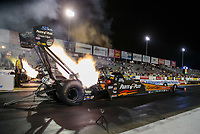 Sep 21, 2018; Madison, IL, USA; NHRA top fuel driver Clay Millican during qualifying for the Midwest Nationals at Gateway Motorsports Park. Mandatory Credit: Mark J. Rebilas-USA TODAY Sports