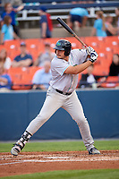 Lynchburg Hillcats first baseman Anthony Miller (40) at bat during the second game of a doubleheader against the Frederick Keys on June 12, 2018 at Nymeo Field at Harry Grove Stadium in Frederick, Maryland.  Frederick defeated Lynchburg 8-1.  (Mike Janes/Four Seam Images)