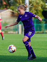 Anderlecht's Jarne Teulings (16) with the ball during a female soccer game between the women teams of Zulte Waregem B Dames and RSC Anderlecht Ladies on the 1/16 th qualifying round for the Belgian Womens Cup 2020  2021 , on saturday 26 th of September 2020  in Zulte , Belgium . PHOTO SPORTPIX.BE | SPP | SEVIL OKTEM