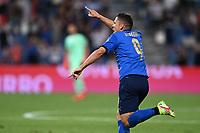 8th September 2021; Mapei Stadium, Città del Tricolore, Reggio Emilia, Italy: FIFA World Cup 2022 qualification, Italy versus Lithuania:  Goal celebrations from Giacomo Raspadori for 3-0 in minute 29