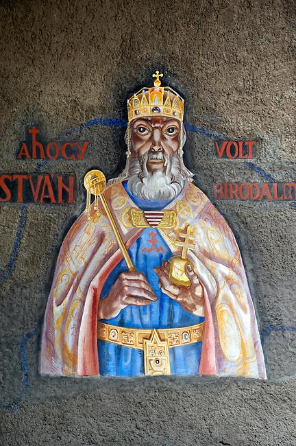 Frescos of St Istvan by Vilmos Aba-Novák (1937). Hero Gate First  World War Memorial  - Szeged, Hungary