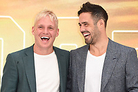 """LONDON, UK. July 30, 2019: Jamie Lang & Spencer Matthews at the UK premiere for """"Once Upon A Time In Hollywood"""" in Leicester Square, London.<br /> Picture: Steve Vas/Featureflash"""