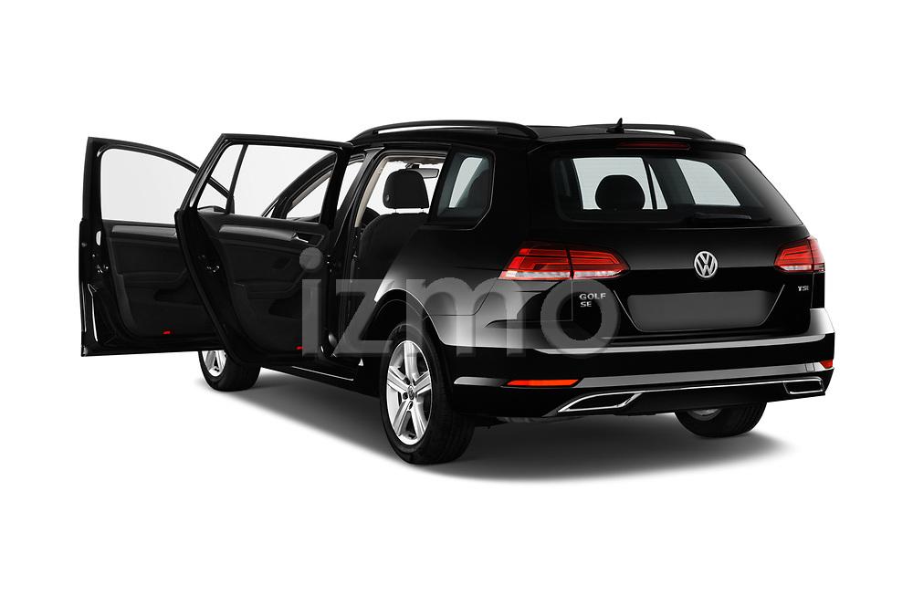 Car images close up view of a 2018 Volkswagen Golf SportWagen SE 5 Door Wagon doors