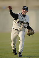 Brandon Medders of the Lancaster JetHawks warms up before pitching during a California League 2002 season game at The Hanger, in Lancaster, California. (Larry Goren/Four Seam Images)