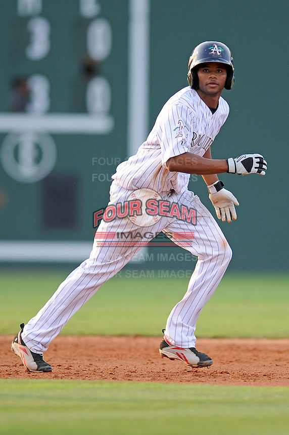 Asheville Tourists Eliezer Mesa South Atlantic League All Star Game at Fluor Field in Greenville, South Carolina June 22, 2010.   The game ended in a 5-5 tie.  Photo By Tony Farlow/Four Seam Images