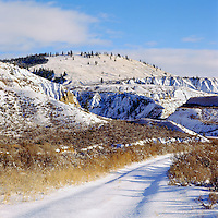 Cariboo Chilcotin Coast Region, BC, British Columbia, Canada - Farwell Canyon along Chilcotin River, Winter