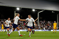 GOAL - Fran Kirby of England Women gives the home team the lead during the Women's international friendly match between England Women and Australia at Craven Cottage, London, England on 9 October 2018. Photo by Carlton Myrie / PRiME Media Images.