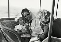 Elizabeth Taylor and Richard Burton on location at Capo Caccia, Sardinia, October 20, 1967.