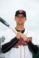Nashville Sounds shortstop Chad Pinder (11) poses for a photo before a game against the Iowa Cubs on May 3, 2016 at First Tennessee Park in Nashville, Tennessee.  Iowa defeated Nashville 2-1.  (Mike Janes/Four Seam Images)