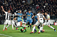 Cristiano Ronaldo of Juventus makes a foul on Jan Oblak of Atletico Madrid as Giorgio Chiellini of Juventus scores a not valid goal during the Uefa Champions League 2018/2019 round of 16 second leg football match between Juventus and Atletico Madrid at Juventus stadium, Turin, March, 12, 2019 <br />  Foto Andrea Staccioli / Insidefoto