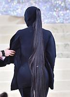 "NEW YORK, NEW YORK - SEPTEMBER 13: Kim Kardashian at the 2021 Met Gala benefit ""In America: A Lexicon of Fashion"" at Metropolitan Museum of Art on September 13, 2021 in New York City. Credit: John Palmer/MediaPunch"