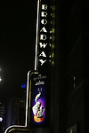 """Theatre Marquee for the Broadway Opening Night Performance Curtain Call of  """"Rocktopia"""" at The Broadway Theatre on March 27, 2018 in New York City."""