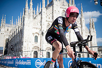 Hugh Carthy (GBR/EF Education - Nippo) finishing in front of the mighty Duomo in Milano<br /> <br /> 104th Giro d'Italia 2021 (2.UWT)<br /> Stage 21 (final ITT) from Senago to Milan (30.3km)<br /> <br /> ©kramon