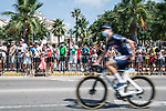 Alpecin Fenix arrive at sign on before the start of Stage 8 of La Vuelta d'Espana 2021, running 173.7km from Santa Pola to La Manga del Mar Menor, Spain. 21st August 2021.     <br /> Picture: Charly Lopez/Unipublic | Cyclefile<br /> <br /> All photos usage must carry mandatory copyright credit (© Cyclefile | Unipublic/Charly Lopez)
