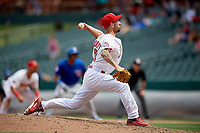 Memphis Redbirds relief pitcher Ryan Sherriff (72) delivers a pitch during a game against the Iowa Cubs on May 29, 2017 at AutoZone Park in Memphis, Tennessee.  Memphis defeated Iowa 6-5.  (Mike Janes/Four Seam Images)