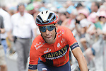 Vincenzo Nibali (ITA) Bahrain-Merida heads to sign on before the start of Stage 14 of the 2019 Tour de France running 117.5km from Tarbes to Tourmalet Bareges, France. 20th July 2019.<br /> Picture: Colin Flockton | Cyclefile<br /> All photos usage must carry mandatory copyright credit (© Cyclefile | Colin Flockton)