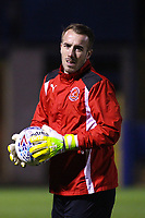 Fleetwood Town's Alex Cairns during the pre-match warm-up in the The Checkatrade Trophy match between Bury and Fleetwood Town at Gigg Lane, Bury, England on 9 January 2018. Photo by Juel Miah/PRiME Media Images.