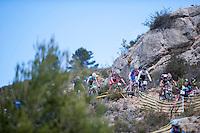 Chelva, SPAIN - MARCH 6: Francisco Murillo, Maria Dolores Valladares, Ivan Feijoo, Eloy Palomar, Raul Flores during Spanish Open BTT XCO on March 6, 2016 in Chelva, Spain