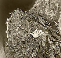 historical aerial photograph LaJolla, California, 1966