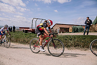Belgian National Champion Annelies Dom (BEL/Lotto-Soudal)<br /> <br /> 5th Strade Bianche WE (1.WWT)<br /> One day race from Siena to Siena (136km)<br /> <br /> ©JojoHarper for kramon