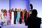 The honorees are photographed with Pucci designer Peter Dundas, wearing glasses,at the annual Houston Chronicle's Best Dressed Luncheon at the Westin Galleria Hotel Tuesday April 3, 2013.(Dave Rossman photo)