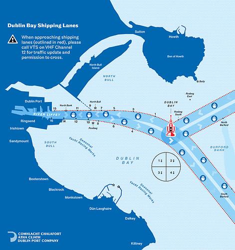 Dublin Port's new Shipping Lanes Map