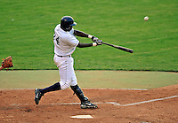 7 July 2008: Vermont Lake Monsters' outfielder Jesus Valdez in action against the Batavia Muckdogs at Centennial Field in Burlington, Vermont. The Lake Monsters defeated the Muckdogs 3-2 in the final game of their 3-game series...Mandatory Photo Credit: Ed Wolfstein Photo