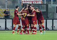 12th September 2021; Olimpico Stadium, Rome, Italy; Serie A championship football, AS Roma versus US Sassulo ; Stephan El Shaarawy of As Roma celebrates after scoring the goal for 2-1 late in injury time