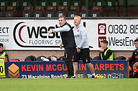 22nd August 2020; Tannadice Park, Dundee, Scotland; Scottish Premiership Football, Dundee United versus Celtic; Dundee United manager Micky Mellon and assistant manager Stephen Frail send in instructions to players